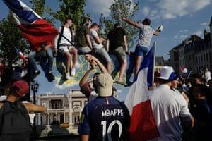 Fans celebrate in Lille