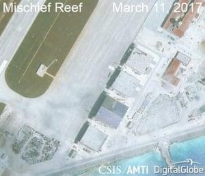 Construction on Mischief Reef