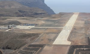 Construction of St Helena airport.
