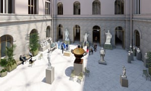 Artist's impression of a new courtyard area at Stockholm's National Museum of Sweden.