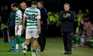 Neil Lennon during the first leg against AIK: 'I have just got on with it and we have won our last four games since Cluj.'