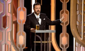 Ricky Gervais and a dubious US-style 'pint'