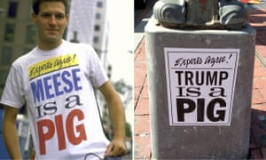 Minor Threat's drummer Jeff Nelson helped spread the 1980s slogan attacking Reagan wingman Edwin Meese; in 2016 the phrase saw new life.