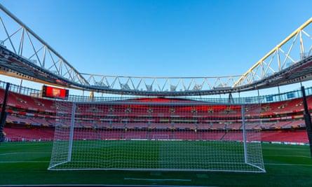 An empty Emirates stadium – Arsenal's home ground
