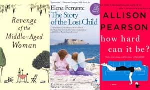 Novels by Elizabeth Strout, Elena Ferrante and Allison Pearson.