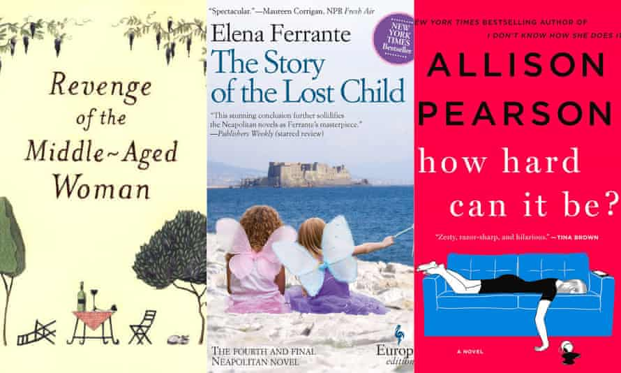 Novels by Elizabeth Strout, Elena Ferrante and Allison Pearson.