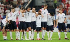 England prepare to lose on penalties at the quarter-finals in 2006.
