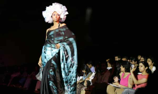 A Satya Paul creation at the Lakme Indian Fashion Week in New Delhi, April 2005.