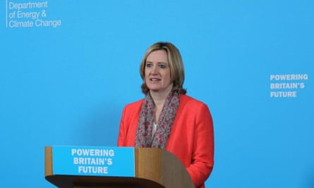 Climate change secretary, Amber Rudd
