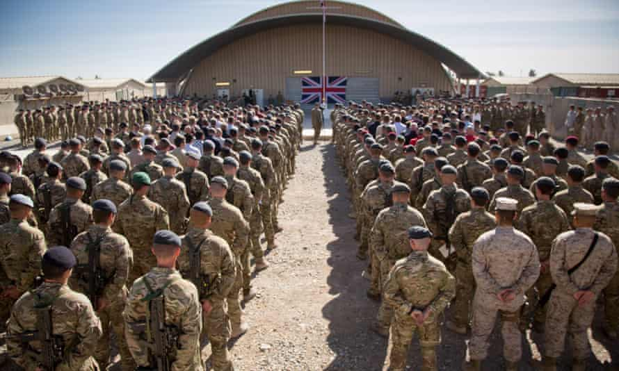 British troops in Kandahar, Afghanistan.