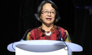UN Special Rapporteur Victoria Tauli-Corpuz, a Kankanaey Igorot woman from the Philippines.