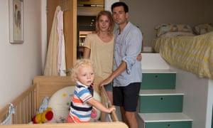 Sarah Henley and Timothy O'Hara with son Rudi