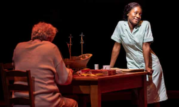 Kezrena James in Under Milk Wood at the National. The theatre is back to capacity on 26 July.