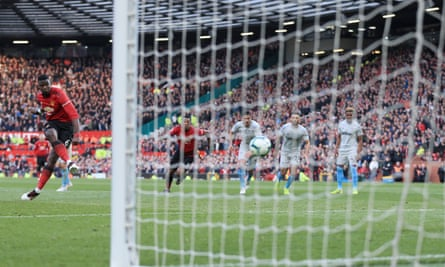 Paul Pogba fires home his, and Manchester United's, second goal of the game.