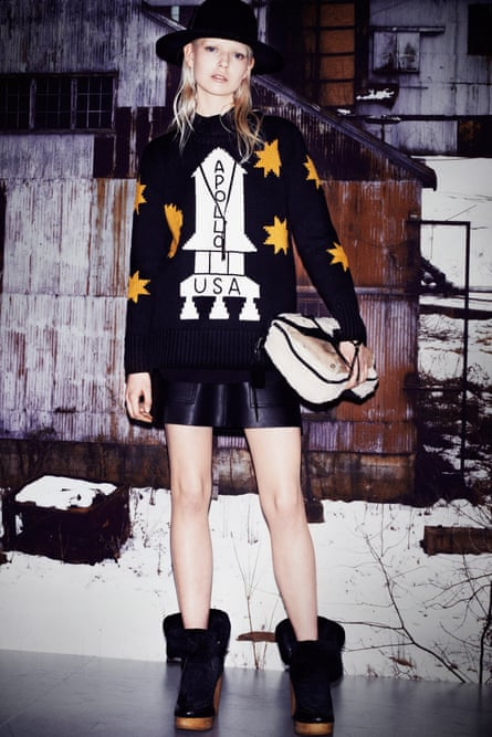 Watch this space … Stuart Vevers replicated Danny Torrance's Apollo sweater at Coach for autumn/winter 2014