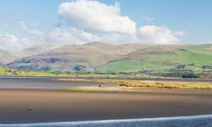 Broad Water on the Afon Dysynni near the coastal town of Tywyn, Cardigan Bay