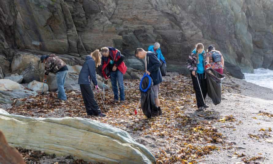 Great British Beach Clean, Finnygook Beach, Cornwall,