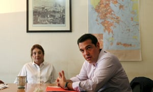 Tsipras speaks during a meeting at the Interior Ministry in Athens about the recent migration wave to Greece