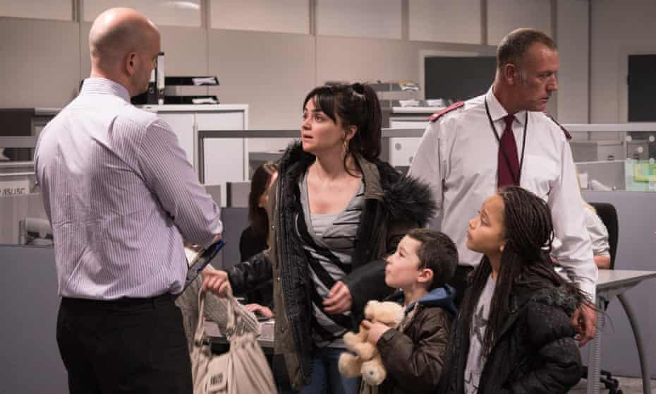 An innocent in the world of welfare non-provision … Hayley Squires as Katie