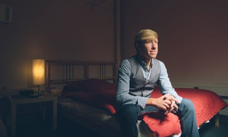 Matthew Walker photographed in his sleep lab.