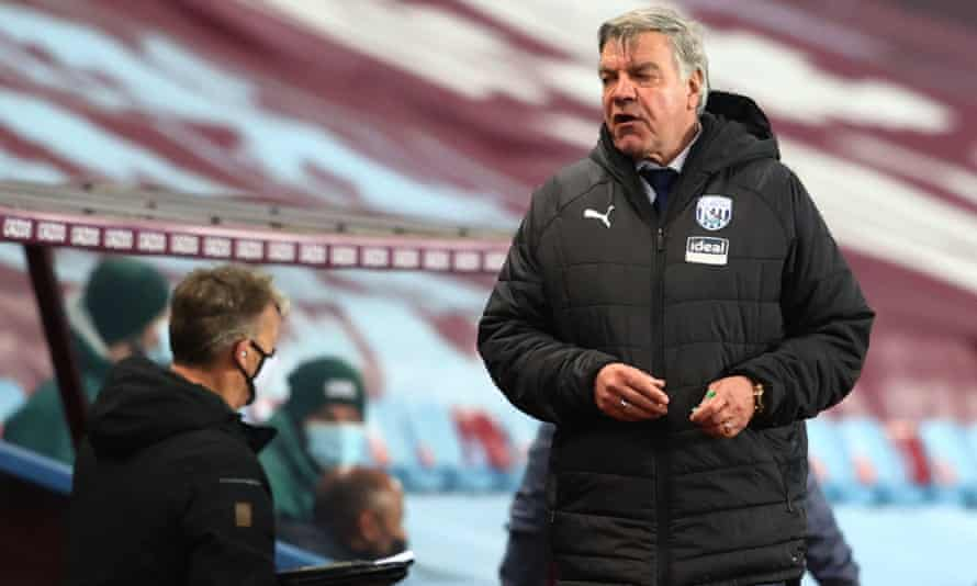 Sam Allardyce on the touchline at Aston Villa