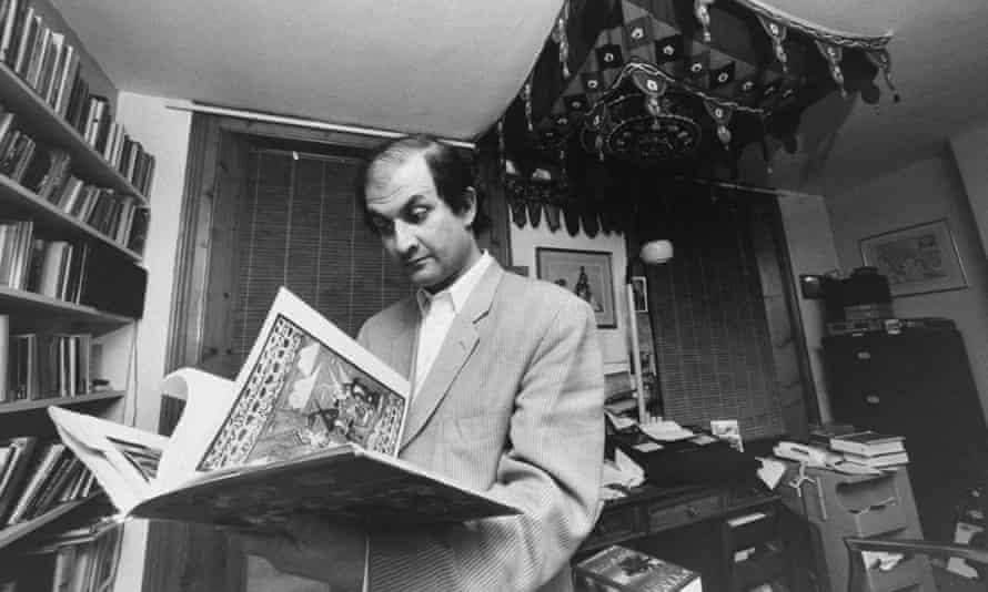 Salman Rushdie, whose book Satanic Legacy Causes Religious Tensions