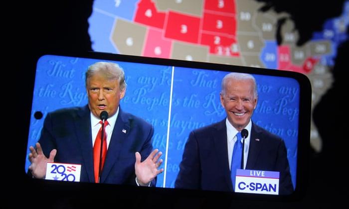 Snap polls give Joe Biden edge over Trump in final TV debate – US politics live