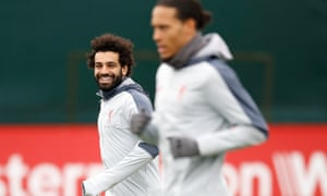 Mohamed Salah (left) and Virgil van Dijk will be key to Liverpool's fortunes against Bayern Munich in Germany.