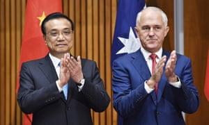 Li Keqiang, Malcolm Turnbull