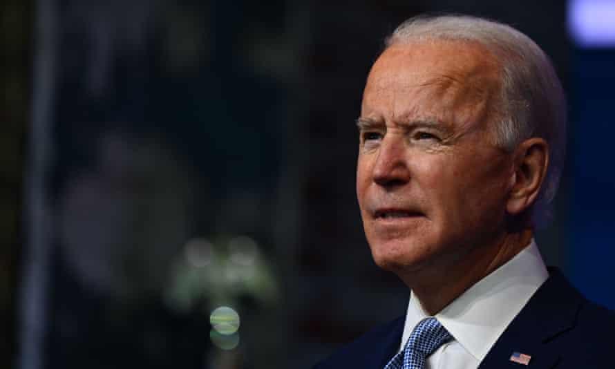 Joe Biden at a cabinet announcement event in Wilmington, Delaware, 24 November 2020.