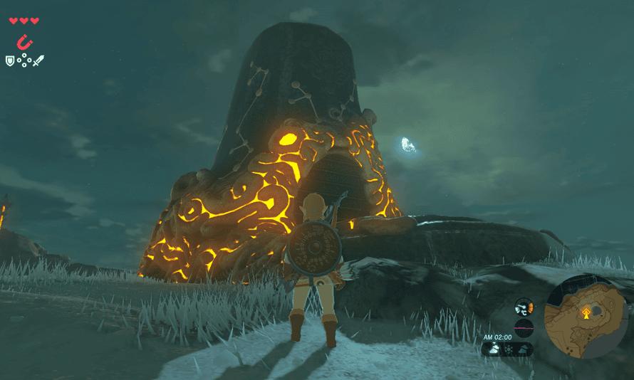 Zelda outside a Shrine