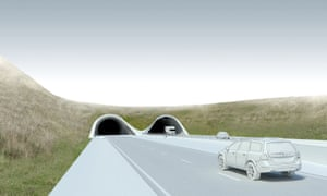 Artist's impression of the 1.8 mile Stonehenge tunnel ... the entrance and exit would sit inside the world heritage site.