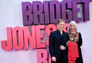 Gemma Jones, who plays Bridget's mother Pam in the three films, arrives at the premiere with actor Freddie Fox