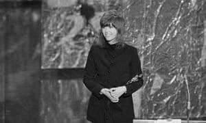 Jane Fonda winning an Oscar in 1972 for Klute