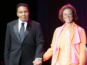 Muhammad Ali with his wife, Lonnie Ali