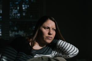 Erica Tarr, 31, at her home in Glen Mills, Pennsylvania. Tarr says, 'I can't bathe my daughter, wash my hands or do a load of laundry, it's like living in constant crisis'.