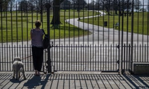 Brockwell Park in Lambeth, south London,  was closed to visitors after overcrowding on 4 April