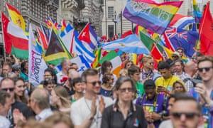 London Gay Pride march, July 2017