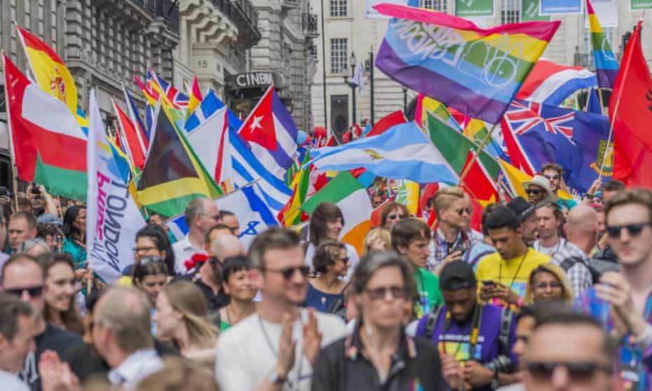 Pride celebrations in London