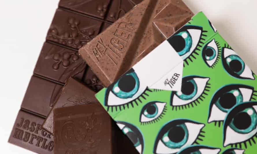 Hey Tiger chocolate in wrapper with eye illustrations