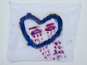 A weeping heart drawn by a detainee on Nauru.