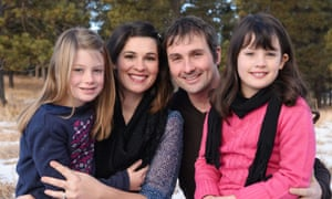 Sarah and Ryan Koontz, with daughters Anya, left, and Nadia, right