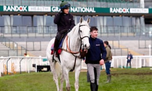 Baie Des Iles and Katie Walsh out on Saturday morning before the Grand National at Aintree.