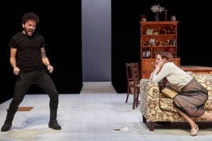 Richard Mylan and Morfydd Clark in The Cherry Orchard.