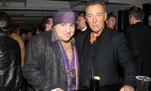 Steve Van Zandt with Bruce Springsteen.