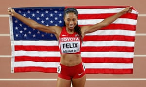 Allyson Felix won her ninth world title and her first major gold medal over 400m.