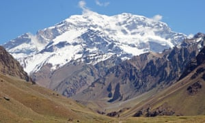 Aconcagua National Park, Andes Mountains, Argentina, South America<br>D2W4PB Aconcagua National Park, Andes Mountains, Argentina, South America