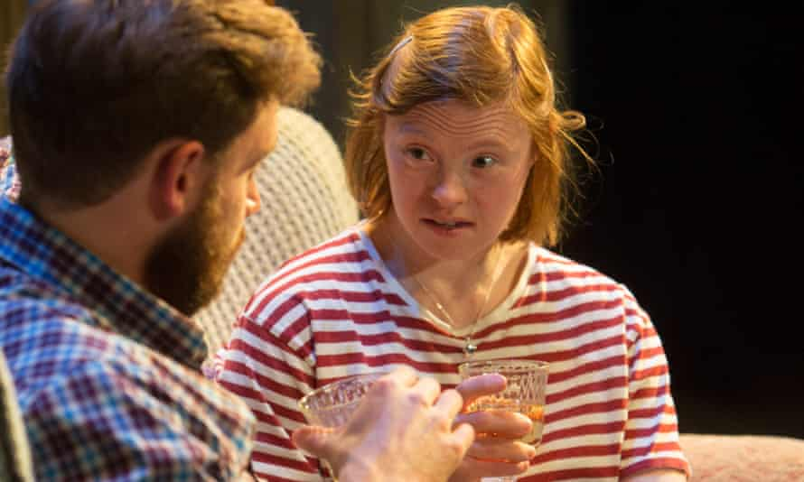 Sarah Gordy with James Atherton in Crocodiles at the Royal Exchange, Manchester.