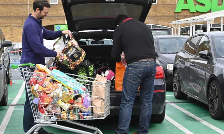 UK supermarket sales surged 43% in the week ending 21 March as coronavirus panic-buying peaked.