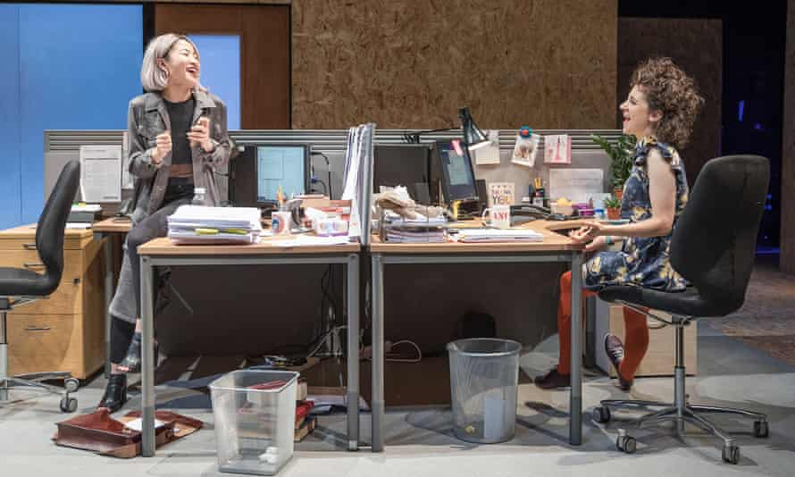 Kae Alexander and Ellie Kendrick in Gloria at Hampstead Theatre, photo by Marc Brenner